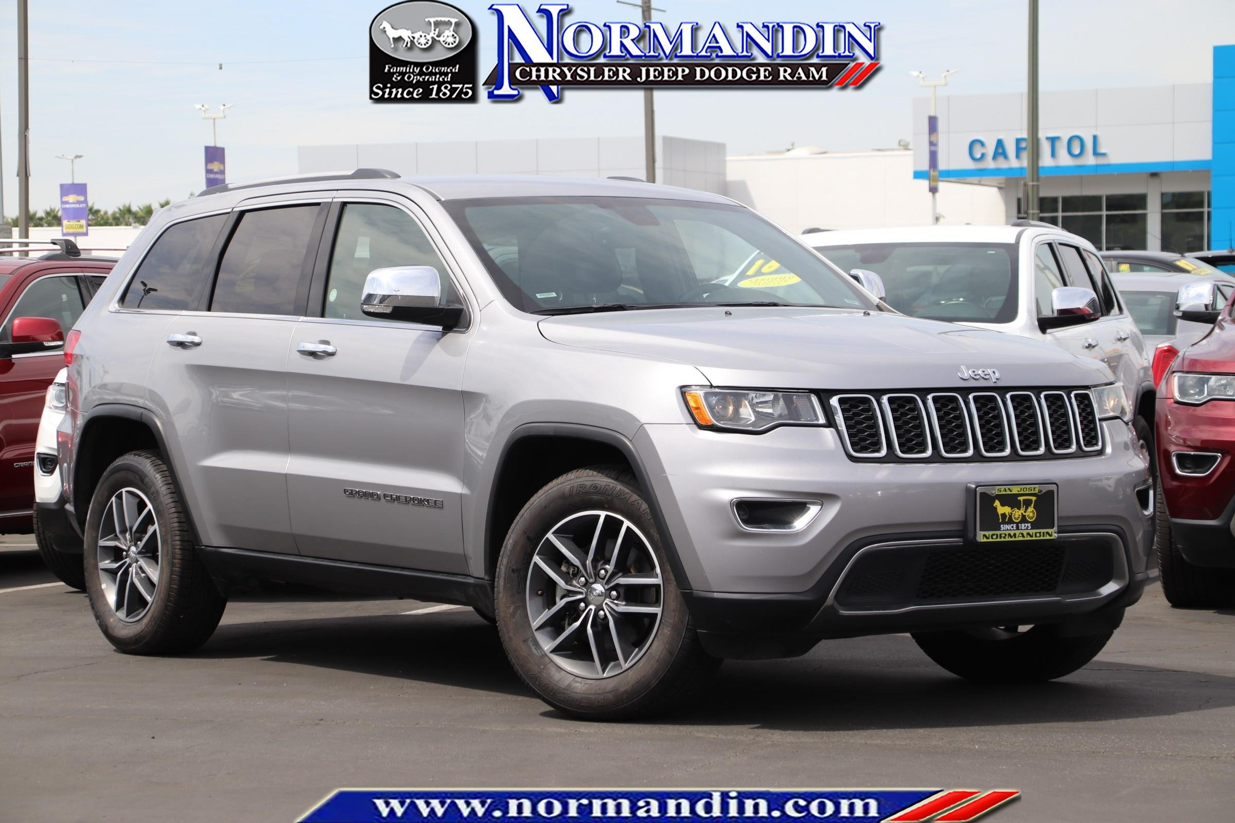 Certified Pre Owned Jeep >> Certified Pre Owned 2018 Jeep Grand Cherokee Limited Rwd 4d Sport Utility