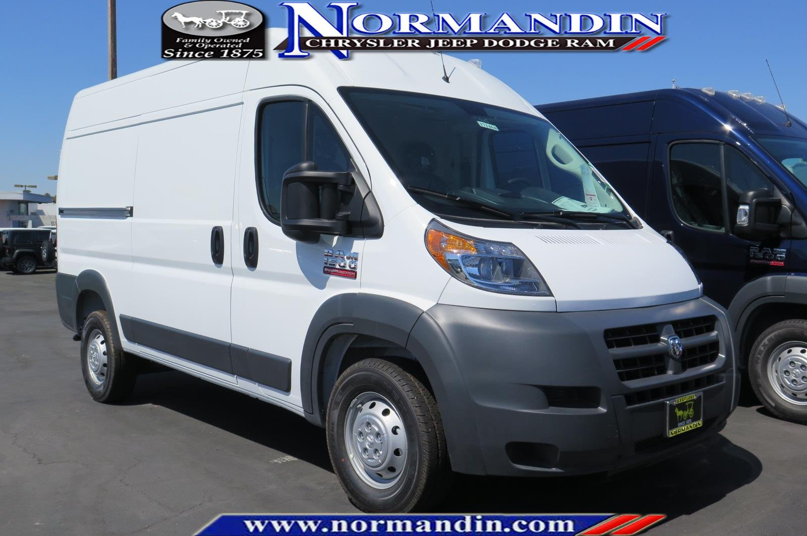 New 2017 Ram ProMaster Cargo Van 1500 High Roof 136 WB