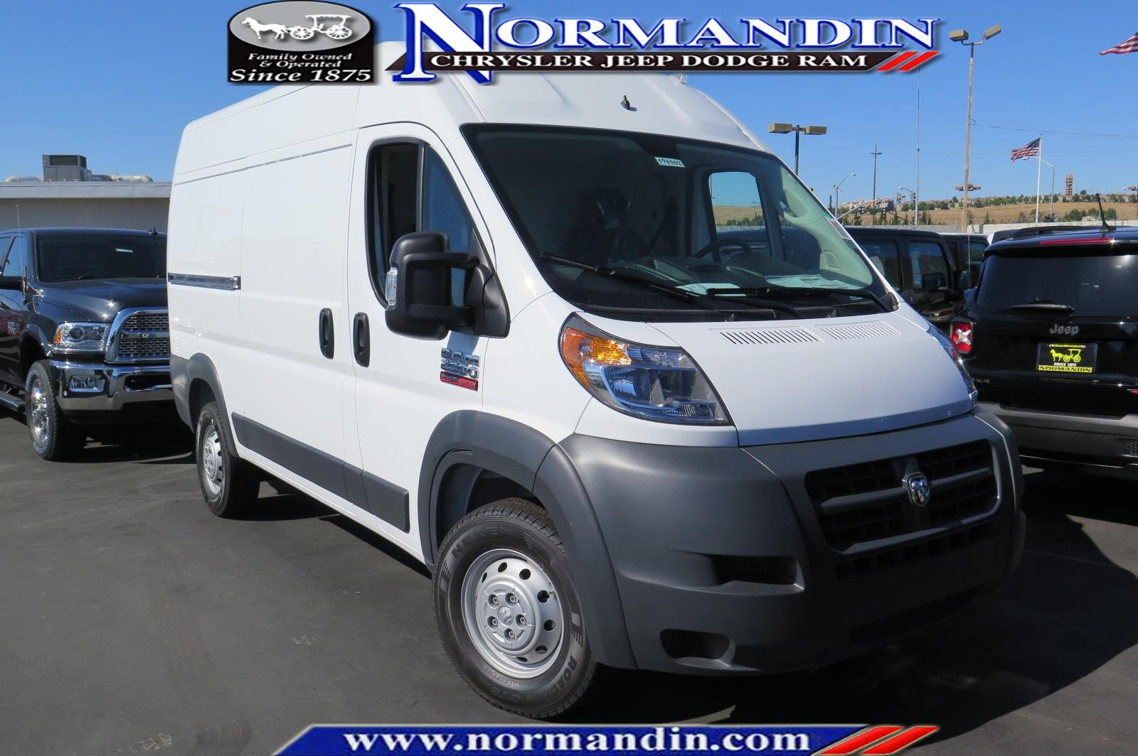 New 2017 Ram ProMaster Cargo Van 2500 High Roof 136 WB