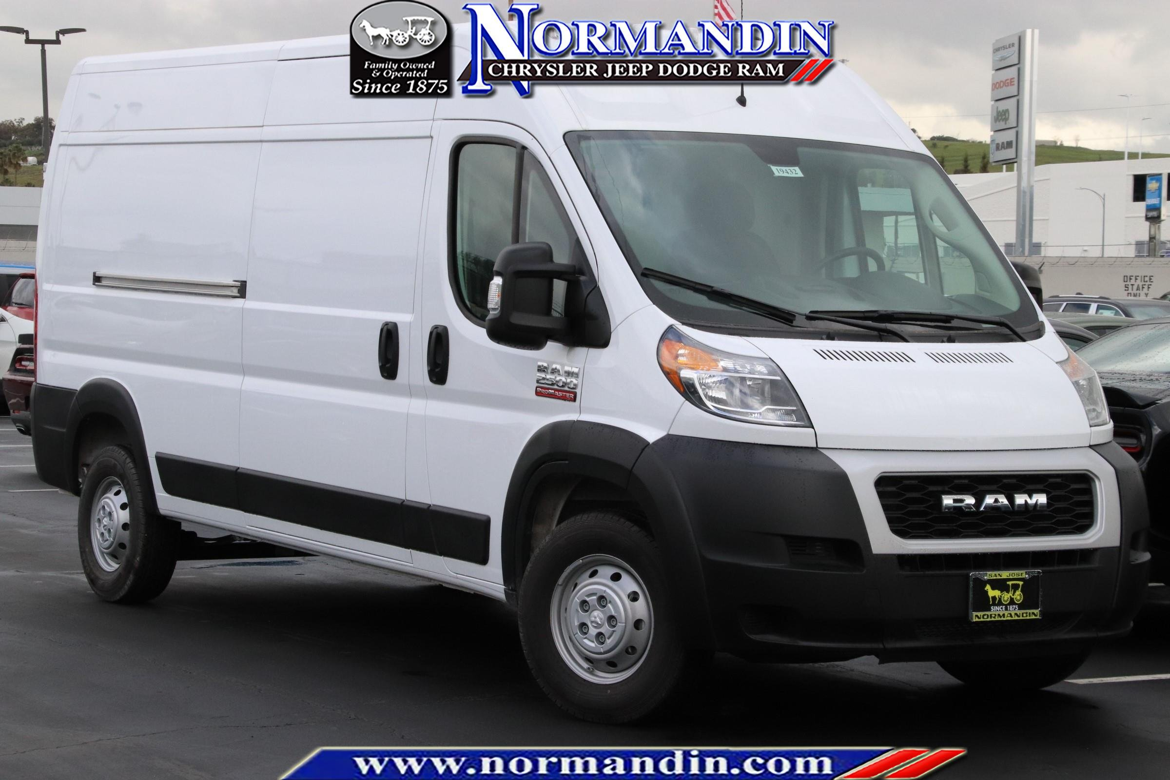 New 2019 Ram Promaster High Roof Cargo Van In San Jose 19432